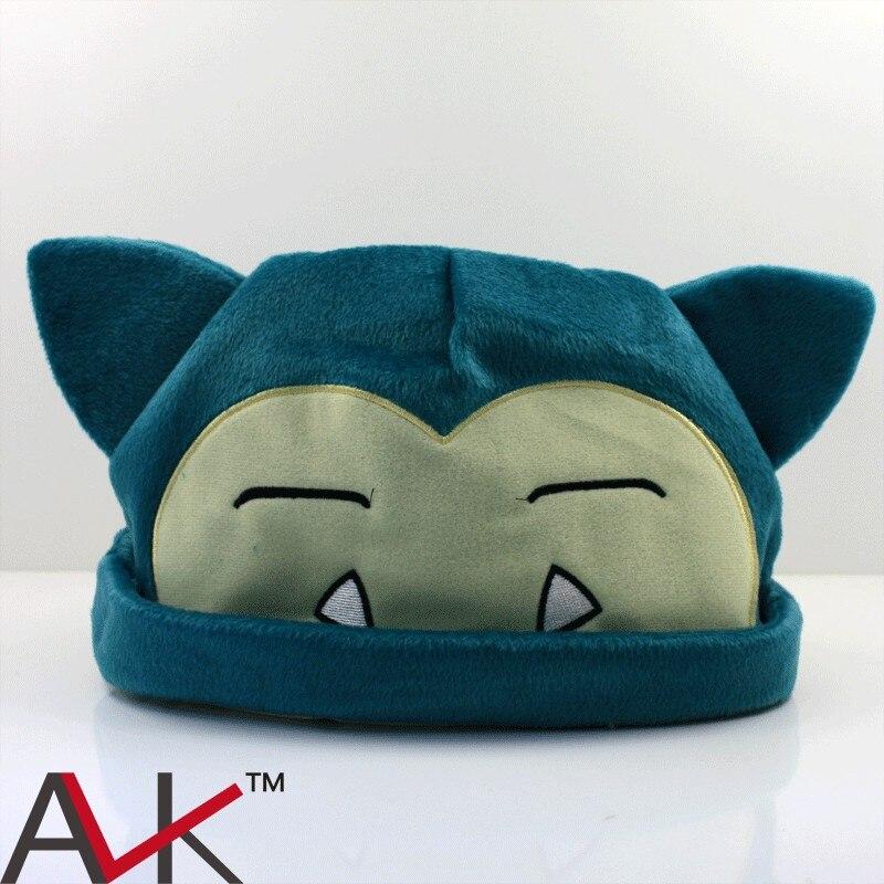 Snorlax Plush toys Plush Hat Soft Winter Hat Cap Cosplay Hats Cartoon Custume For Kids