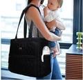 Black Wet Bag Stroller Handbag Baby Diaper Bags 4pcs Set Organizer Hospital Nursery Bags Buggy Bolso Maternidad Baby Bag For Mum