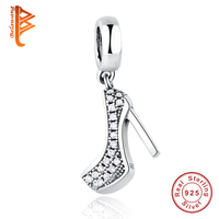 2016 New Fashion Romantic 925 Sterling Silver Sparkling Shoe Stiletto Pendant Charm Fit Pandora Bracelet With