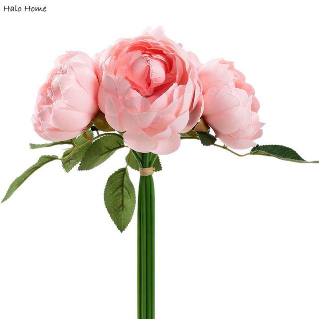 1 bunch pink rose silk artificial flower wedding public places 1 bunch pink rose silk artificial flower wedding public places garden home office festival party celebrations mightylinksfo