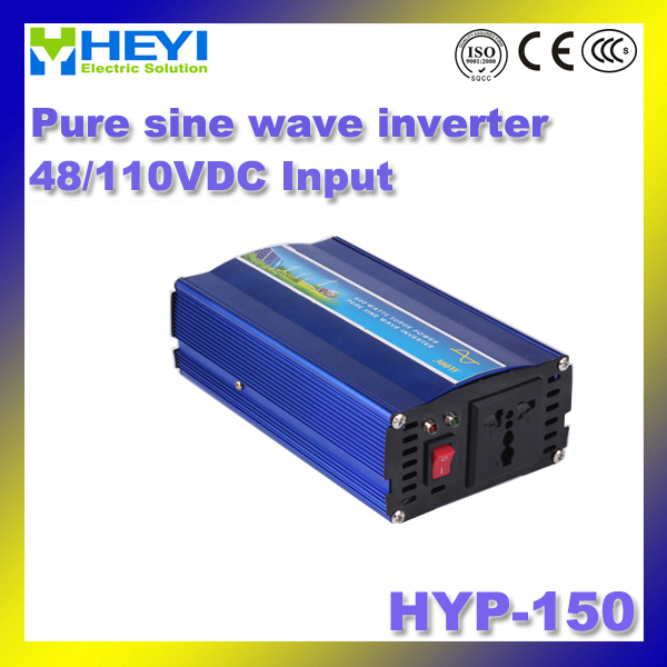 DC48V/110V Input inverter HYP-150 Dc to Ac inverter 150W with Cooling fan pure sine wave inverter 50/60Hz 48v 110v hyp 6000 50 60hz dc to ac power inverter soft start power inverter low work noise sine wave inverter