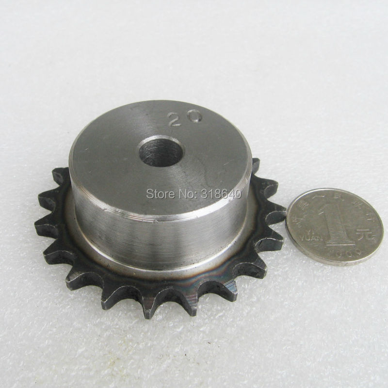 06B 20T 20Teeth Pitch 9.525mm 3/8 Bore 10mm Industry Transmission Drive gear Single Sprockets mechanical parts for roller chain 40 sprocket 20 teeth bore 5 8 pitch 1 2 industry transmission drive gear 08a sprocket for go kart roller chain
