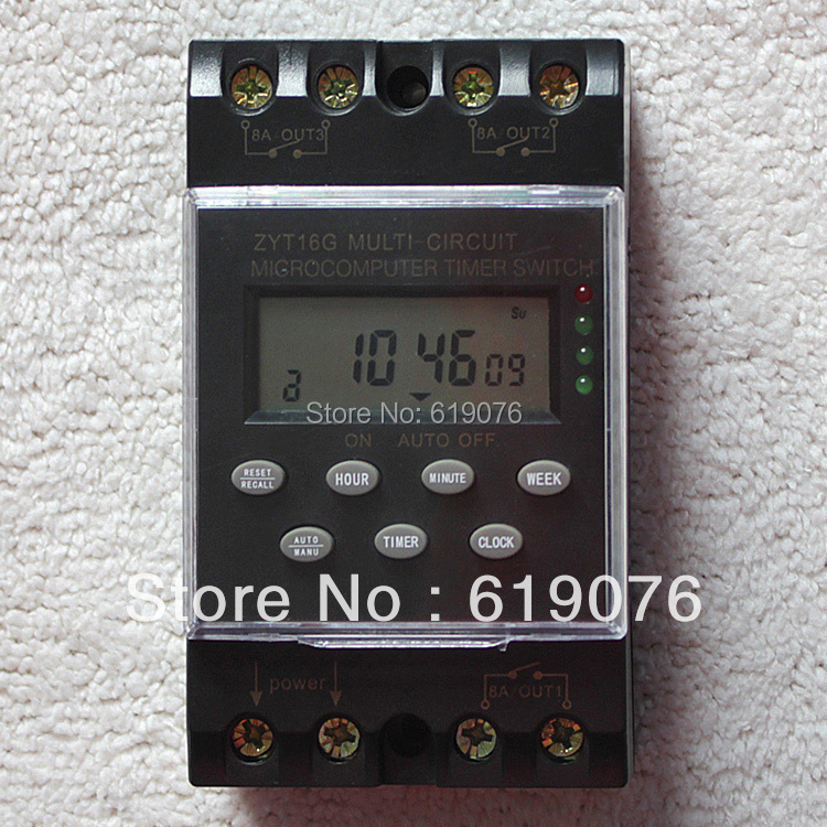 ZTY16G-3A 220VAC 25A Micro-Computer Auto Ringer Digital Bell Program Bell Controller School Bell Programmable TIMER SWITCH wholesale shanghai zhuo a 6 inch zyt05 school of engineering with bell automatic bell ringer instrument 20