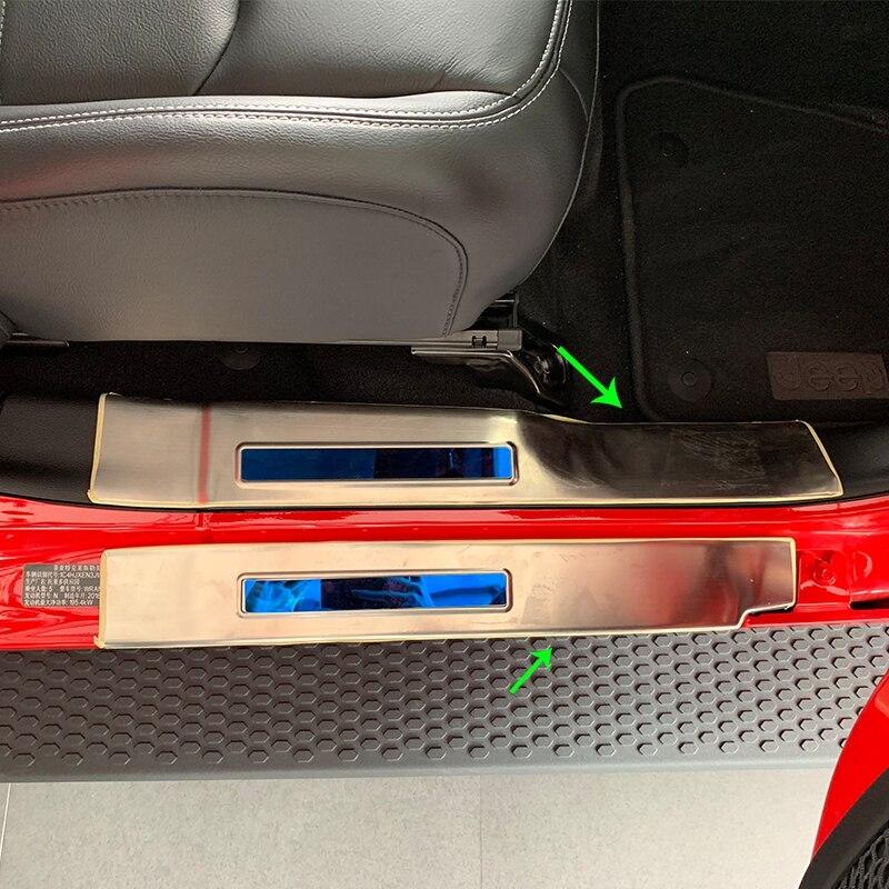 OUBOLUN accessoires de voiture kits de carrosserie ABS chrome calandre garnitures Pour JEEP WRANGLER 2018
