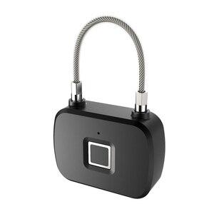 Image 4 - 골든 보안 스마트 잠금 장치가없는 스마트 지문 잠금 IP66 방수 도난 방지 보안 자물쇠 도어 수하물 잠금 장치 L13