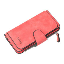 Brand Wallet Women Ladies Clutch Wallet High Quality Scrub Leather Lady Purses Long Female Wallet Carteira Feminina(China)