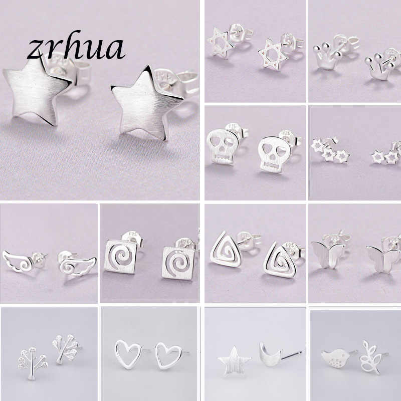 2019 Newest 925 Silver Needle Women's Jewelry Fashion Cute Chic Stud Earrings for School Girls Kids Lady Birthday Accessories