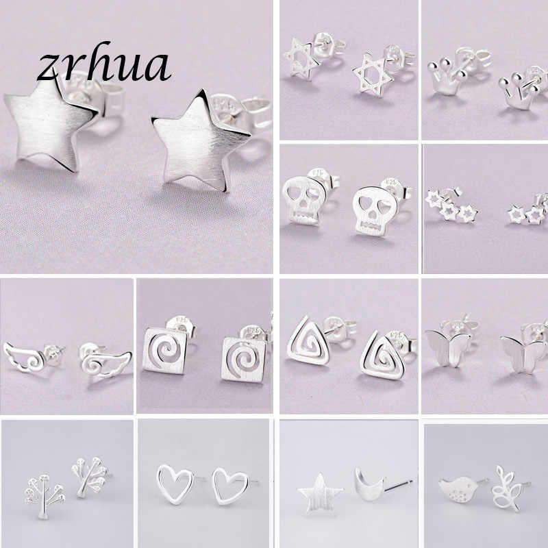 2019 Newest 925 Silver Needle Women's Jewelry Fashion Cute Chic Stud Earrings for School Girls Kids Lady Birthday Accessories