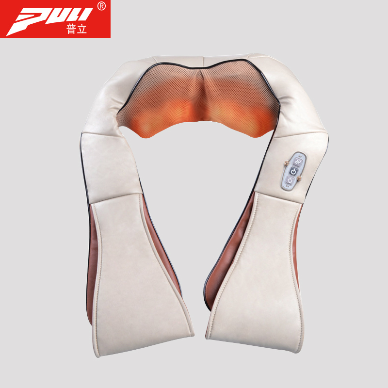 PULI Shoulder Massager With Heat And Shiatsu Kneading Massage 4D Body Neck Back Massage Car Home Travel Use 2016 new arrival kneading massager with heat great at home spa machine for neck back shoulder