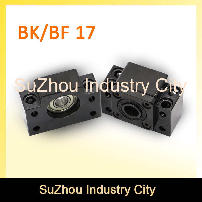 BK 17 & BF 17 Ball Screw SFU2005/2010 End Machine Support BK 17 + BF 17 CNC parts BK/BF17 bracket huosooyun 17