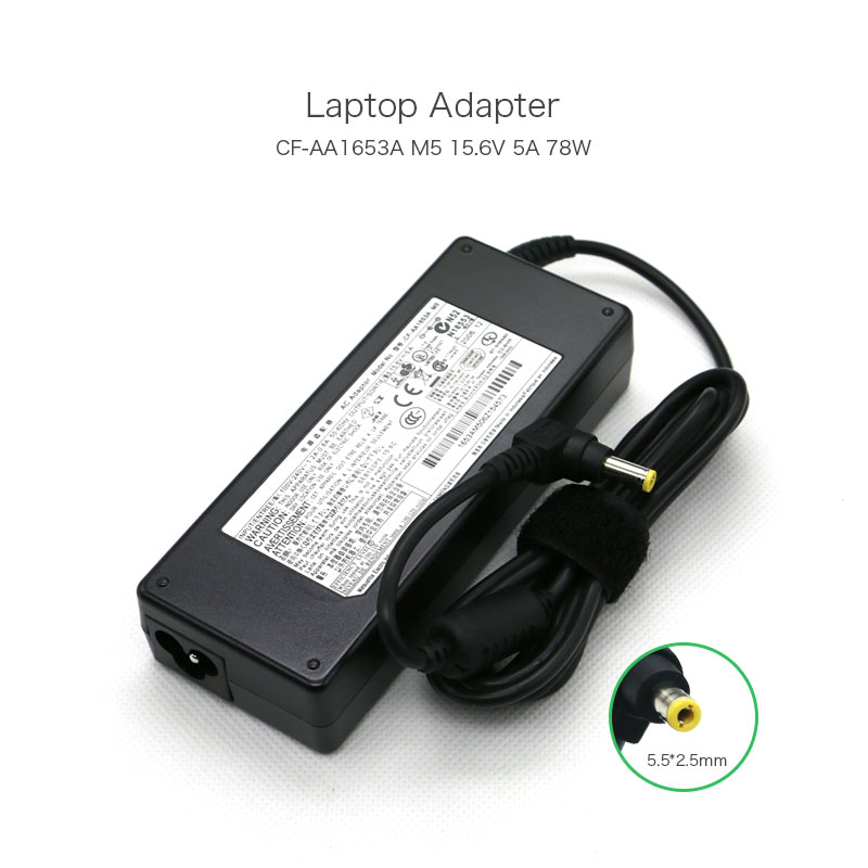 15.6V 5A 78W <font><b>CF</b></font>-AA1653A M5 <font><b>CF</b></font>-AA1623A Power Supply for Panasonic <font><b>Toughbook</b></font> <font><b>CF</b></font>-31 <font><b>CF</b></font>-53 <font><b>CF</b></font>-52 <font><b>CF</b></font>-<font><b>19</b></font> Laptop Battery Charger image