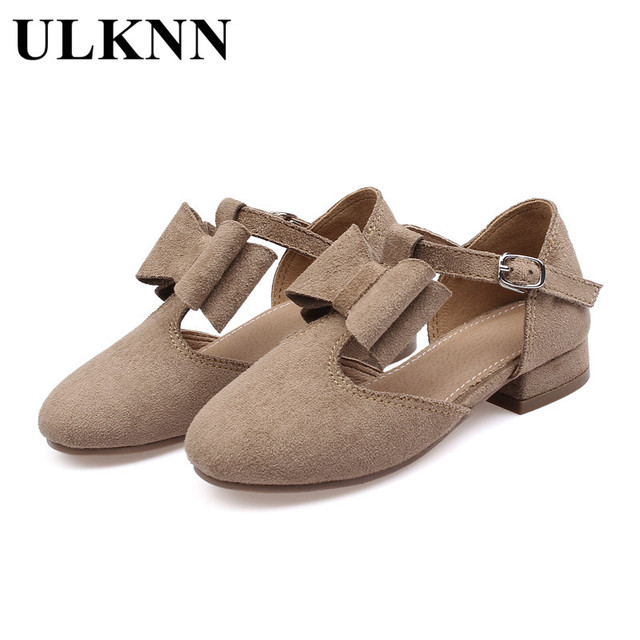 ULKNN Girls Sandals Kids Shoes Baby Leather Shoes Cut-out Heart Girls Dress  Shoes Flat Sandals for Big Girls Princess Party 718daf3b2fb5