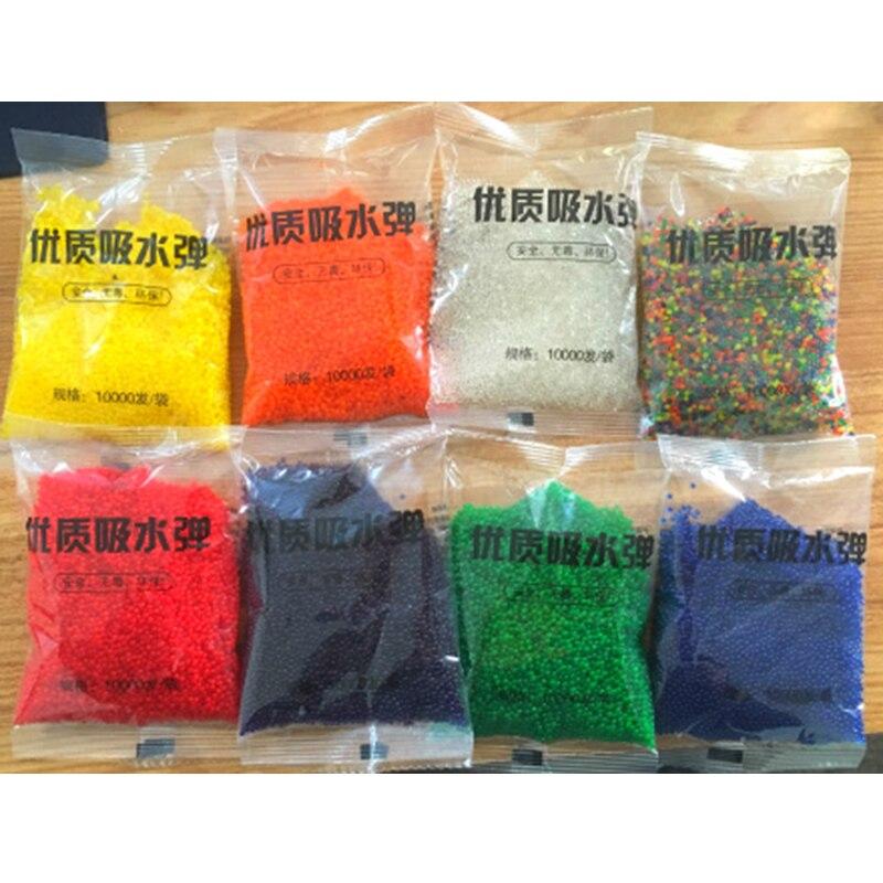 10000 Pcs/Lot Coloré Orbeez Perles de L'eau de Fleur/De Mariage/Décoration grandir perles d'eau cultiver boules Drôle gun bullet Pour enfants jouet
