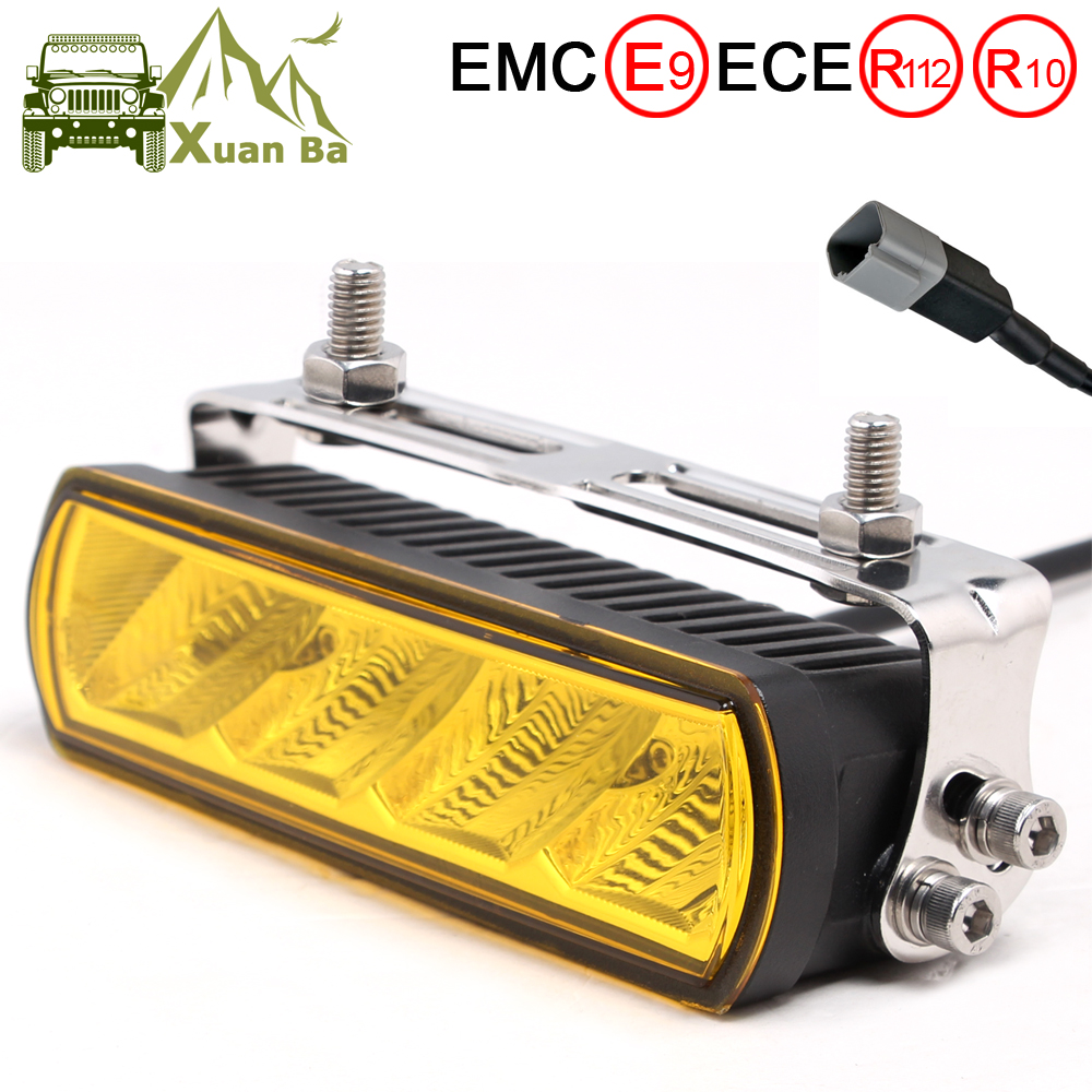6 Inch 20W Slim LED Work Light Bar Amber Fog Drive Lamps For Offroad Trucks Boat ATV 4x4 4WD Marine Trailer Driving Barra Lights