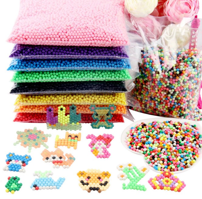 500Pcs/Set 30 Colors 5mm Water Spray Aqua Perler Magic Beads Educational 3D Puzzles Accessories For Children Toys