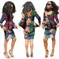 Красивые Женщины Костюмы Новая Мода Африканская Печатных Воск 2 Шт. набор Женщины Обрезать Топ И Юбка Набор Увлекательных dashiki наборы WY812