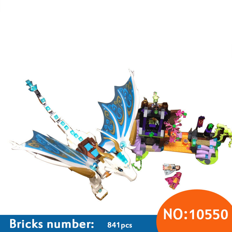 AIBOULLY Elves 10550 White Dragon The Elf Series Of Long After The Rescue Cction Blocks With 41179 Girls Assembled Block Toys chris wormell george and the dragon