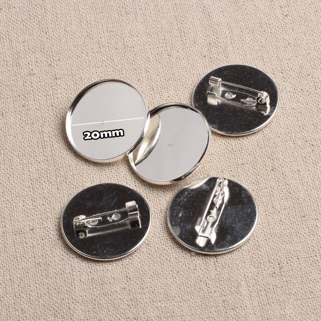 Super Reidgaller 10 pz Metallo In Bianco cabochon Spilla Base 20mm  HF82