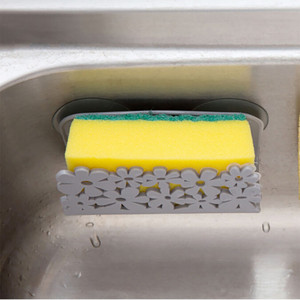 Image 3 - 皿布吸引カップキッチン皿布ラックハンガーウォールマウント洗濯スポンジ石鹸ホルダークリップ棚浴室収納 13