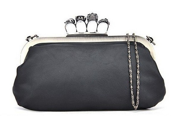New Women Ring Bag Skeleton Skull Finger Clutch Purse Evening Handbags Db002 Wallets