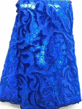 Noble pattern African tulle French lace fabric nice party dress material with beads for dress VNH19(5yards/lot)