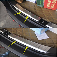 Lapetus Stainless Steel Rear Bumper Trunk Scuff Plate Door Sill Molding Garnish Protection Kit For Honda CRV CR V 2012 2013 2014