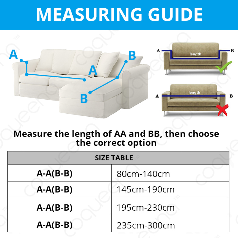 2 Pcs Elastic Couch Cover for Sectional and L Shaped Sofa Made of Spandex Material 2