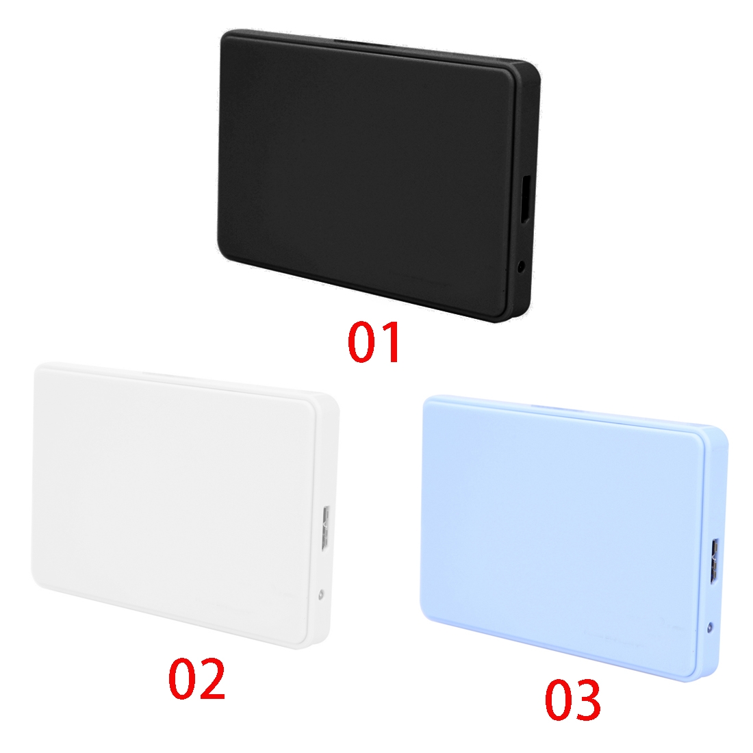 3 color 2.5 USB 3.0 SATA HD Box HDD Hard Drive External Enclosure Case Support Up to 2TB Data transfer backup tool For PC