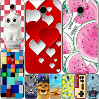 huge discount 563b2 3462c June Styel For Alcatel U5 3G case Silicon cover Fashion flower cool animal  painted cartoon case for Alcatel U5 3G 4047d cover
