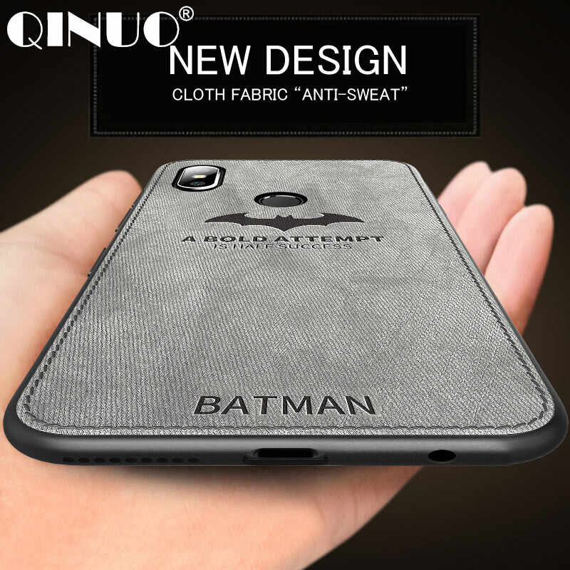 QINUO Batman Textile Cloth Case For Xiaomi Mi9 9SE Mi8 8SE 5 5X 6 6X Deer Soft Silicone Shockproof Case For Xiaomi Mix 3 2S Max3
