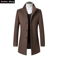 Men Clothes 2019 Autumn Winter New Long Wool Jacket Male Fashion Casual Thicken Slim Fit Mens Coat Brand Clothing
