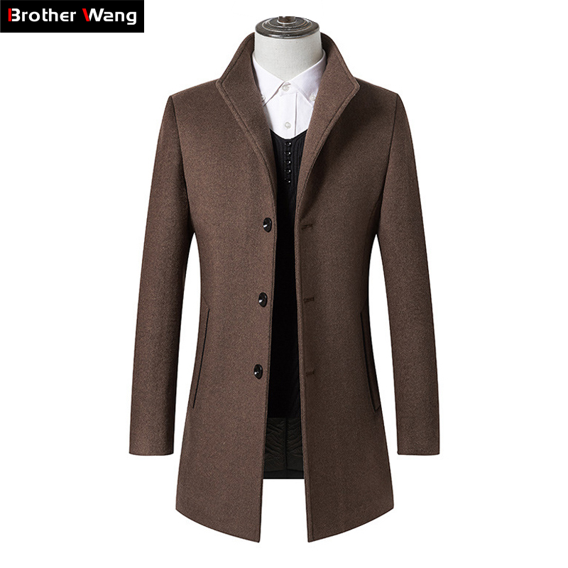 Men Clothes 2020 Autumn Winter New Long Wool Jacket Male Fashion Casual Thicken Slim Fit Mens Coat Brand Clothing