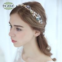 2018 Korean Wedding Accessories Floral Diamond crown Hair Band for Bride Women Headbands Flower Girls Anniversary Hair Jewelry