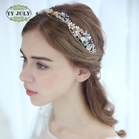 2018 Korean Wedding Accessories Floral Diamond crown Hair Band for Bride Women Headbands Flower Girls Anniversary Hair Jewelry