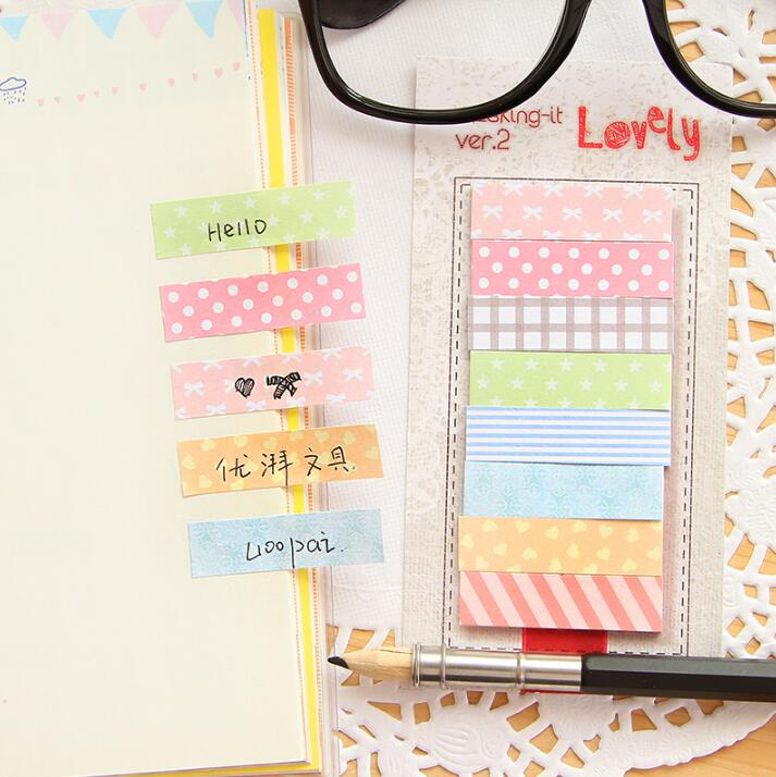 Fresh Countryside Style Self-Adhesive Memo Pad Sticky Notes Bookmark School Office Supply