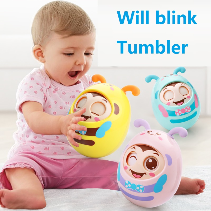 Kids Toys Tumbler-Toy Small-Bells Baby Think ABS L2133 Abs-Material Easy Built-In