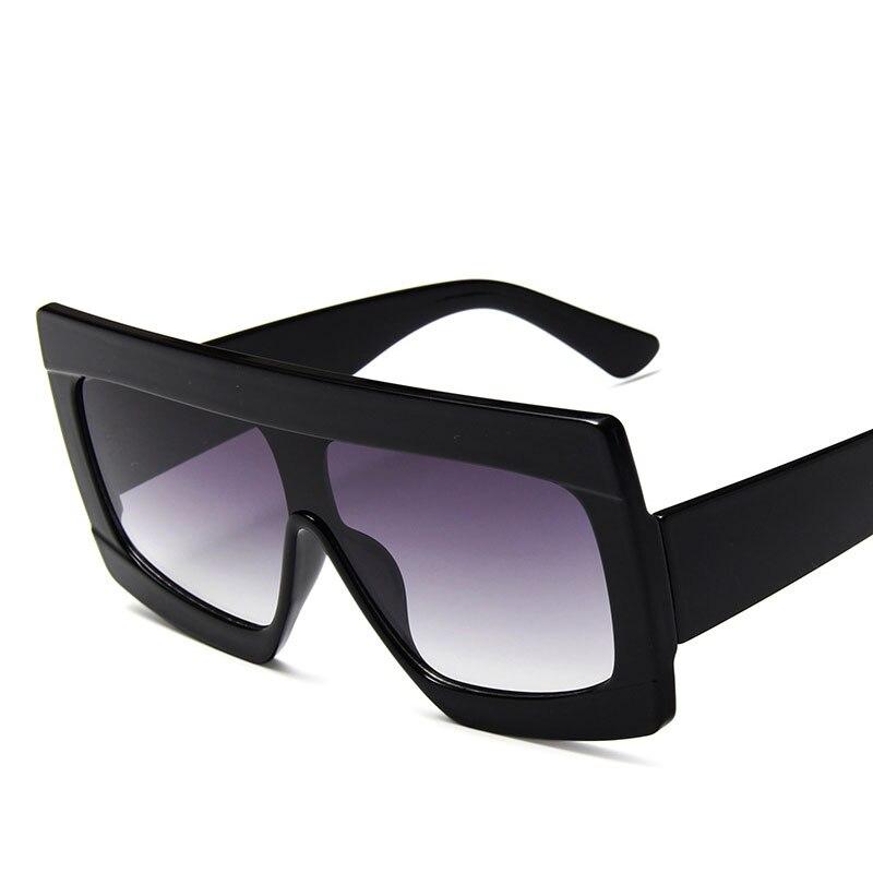 2019 New Fashion Square Sunglasses Women Brand Designer Retro Mirror Sun Glasses Vintage Shades UV400 Adult Plastic Square