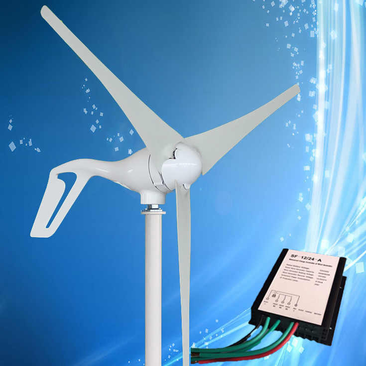 2019 Best Selling Wind Generator 400W Wind Turbine with 3/5PCS Blades + Free Wind Generator Charge Controller, 15 Years Warranty