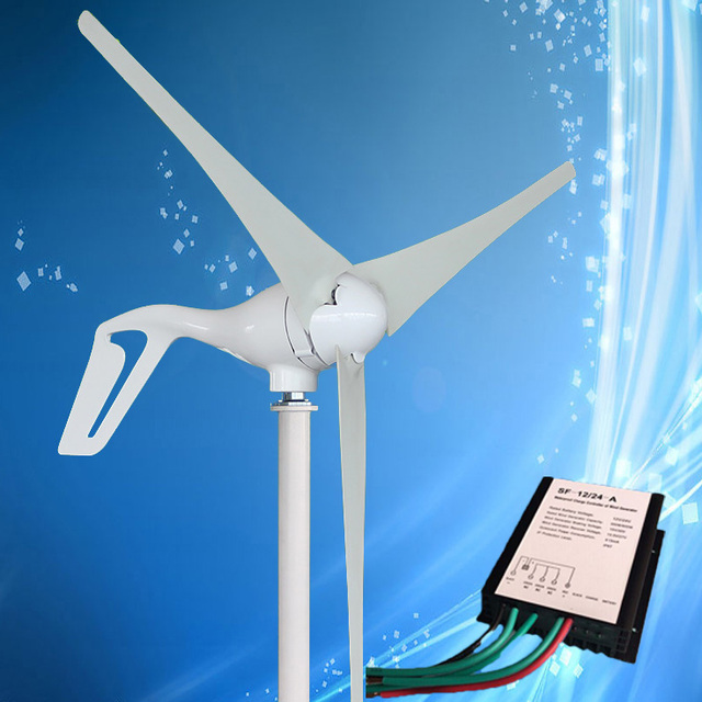 US $95 38 5% OFF|2019 Best Selling Wind Generator 400W Wind Turbine with  3/5PCS Blades + 600W Wind Generator Charge Controller, For Land and Boat-in