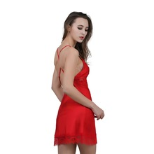 Nightgown Lace Element Mini Sleepshirt Nightdress