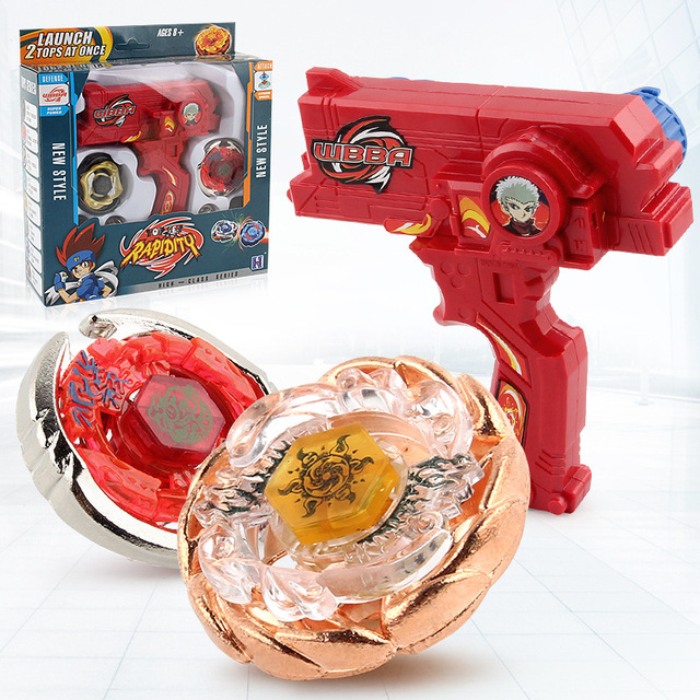 2pcs/set Beyblade Metal Plastic Fusion 4D Spinning Rapidity Beyblades Spin Top Toy Set,Bey Blade Spinner Kid Christmas Gift Toys