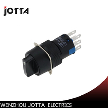 LA16-22X/31/Y round selector  illuminated 3 position maintained push button switch