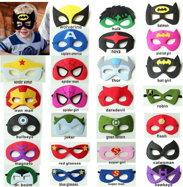Hot 500pcs set Creative Cartoon Super Hero Masquerade Mask Children s Day Party Supplies Christmas Halloween