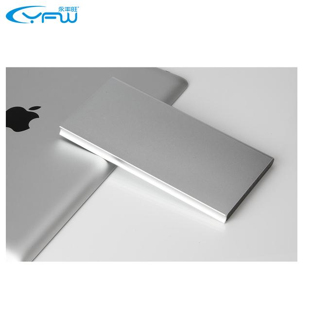 YFW 12000 mAh Banco de Potencia ultra-delgada Caja de Metal Polímero Powerbank Batería Externa del Cargador Dual USB Portátil para Todos Smartphones