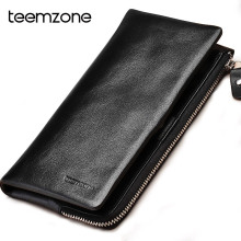 Black Fashion Men Leather Clutch Bag Designer Men's Large Capacity Handbag High Quality Famous Brand Male Solid Wallet Free Ship