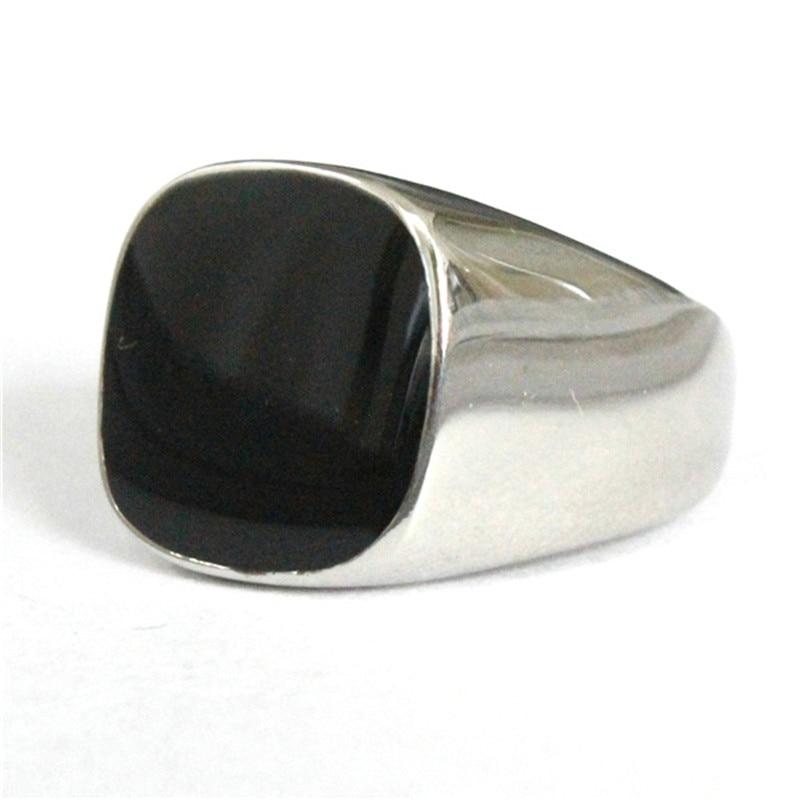 Rany & Roy Drop Schiff Mode Epoxy Ring 316L Edelstahl Schmuck Polieren Silber Schwarz Cocktail Ring