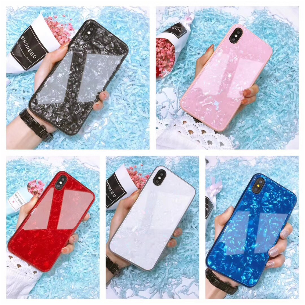 Tempered Glass Glitter Funda <font><b>Case</b></font> for <font><b>iPhone</b></font> <font><b>7</b></font>/8/7P/8P,TPU Soft VS shield Bumper Gift for Women Friends <font><b>off</b></font> <font><b>white</b></font> Cover Shell image