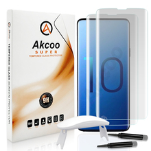 Akcoo Note 10 Screen Protector unlock with fingerprint full glue screen film for Samsung Plus S10 10e 5G UV Glass