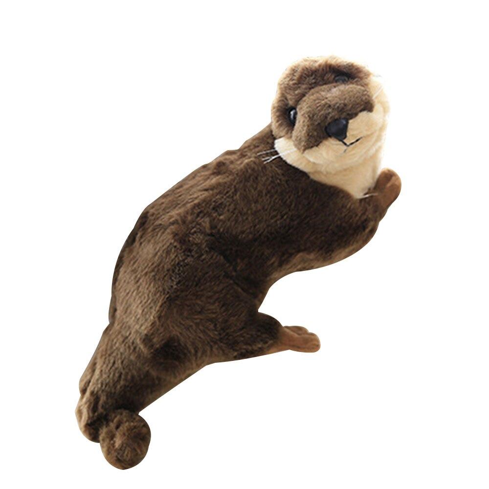 Educational Sea Otter Doll Baby Plush Toys Cute Vivid Stuffed Toy 40CM Brown Short Plush Children Student Teaching vasos sanitários coloridos