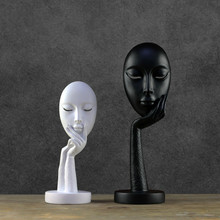 Nordic Modern Thinker Mask Decoration Living Room TV Cabinet Creative Home Soft Decorations Study of Facial Furnishings